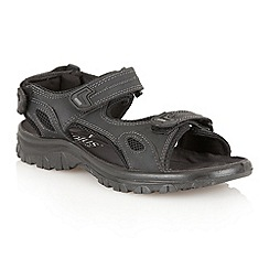 Lotus Since 1759 - Black 'Rothbury' raft sandals