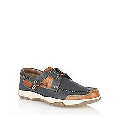 Lotus - Navy 'Braxton' deck shoes