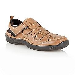 Lotus - Tan 'Eldridge' slip on shoe