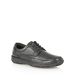 Lotus - Black smooth leather 'Princeton' mens shoes