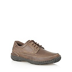 Lotus - Brown waxy leather 'Princeton' mens shoes