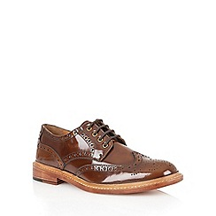 Lotus - Brown hi shine leather 'Edward' mens shoes