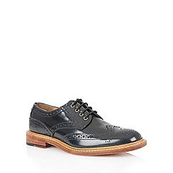 Lotus - Navy hi shine leather 'Edward' mens shoes