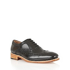 Lotus - Black leather 'Harry' mens shoes