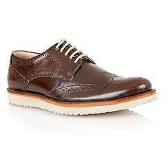 Lotus - Brown hi shine leather 'Sherbourne' mens shoes