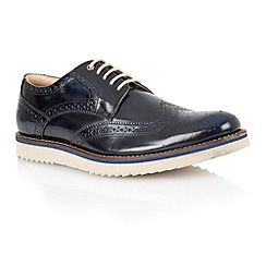 Lotus - Navy hi shine leather 'Sherbourne' mens shoes