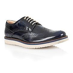 Lotus - Navy hi shine leather 'Sherbourne' mens shoes
