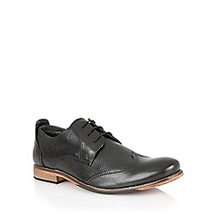 Lotus - Black leather 'Kade' mens shoes