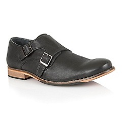 Lotus - Black leather 'Easton' mens shoes