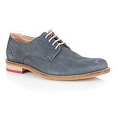 Lotus - Navy washed leather 'Banwell' mens shoes