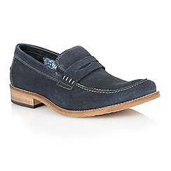 Lotus - Navy suede 'Keaton' mens shoes