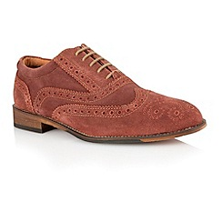 Lotus - Bugundy suede 'Tambridge' mens shoes