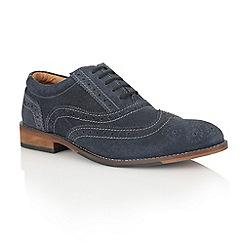 Lotus - Navy suede 'Tambridge' mens shoes