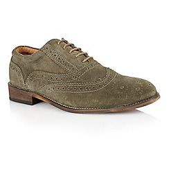 Lotus - Sage green suede 'Tambridge' mens shoes