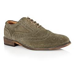 Lotus - Sage green suede 'Tambridge' mens shoes