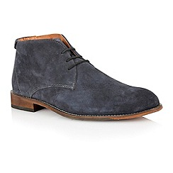 Lotus - Navy suede 'Wedbury' mens shoes