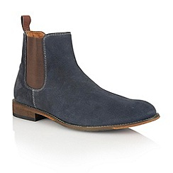Lotus - Navy suede 'Burton' mens shoes