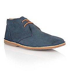 Lotus - Navy suede 'Wickford' mens shoes