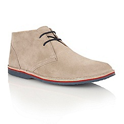 Lotus - Stone suede 'Wickford' mens shoes