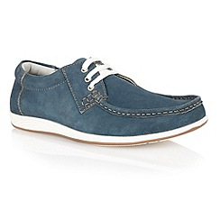 Lotus - Navy suede 'Allington' mens shoes