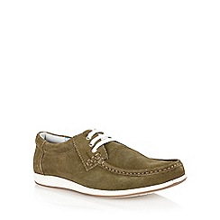 Lotus - Sage green suede 'Allington' mens shoes