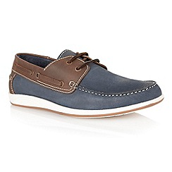 Lotus - Navy leather 'Exmouth' mens shoes