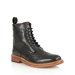 Lotus Since 1759 - Black leather 'Dunford' chukka boots