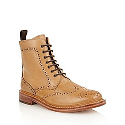 Lotus Since 1759 - Burnished tan leather 'Dunford' chukka boots