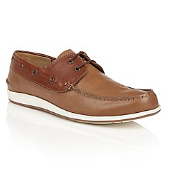 Lotus - Brown leather 'Knighton' boat shoes