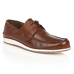 Lotus - Chestnut leather 'Knighton' boat shoes