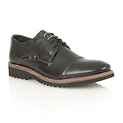 Lotus Since 1759 - Black leather 'Thor' lace up shoes