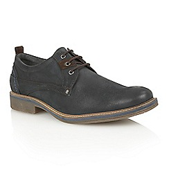 Lotus Since 1759 - Navy leather 'Buller' lace up shoes