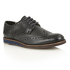 Lotus Since 1759 - Black leather 'Downey' lace up shoes