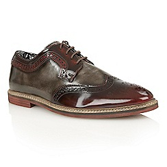 Lotus - Bordeaux grey rub off leather 'Findlay' lace up shoes