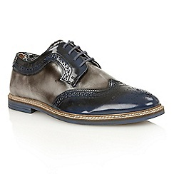 Lotus - Navy grey rub off leather 'Findlay' lace up shoes