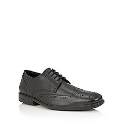 Lotus Since 1759 - Black leather 'Carlisle' lace up brogues