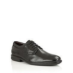 Lotus Since 1759 - Black leather 'Declan' lace up oxford shoes