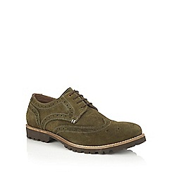 Lotus Since 1759 - Green suede 'Evan' casual brogues