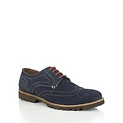 Lotus Since 1759 - Navy suede 'Evan' casual brogues