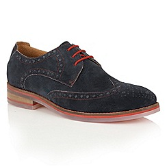 Lotus Since 1759 - Navy suede 'Zachary' casual brogues