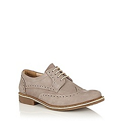 Lotus Since 1759 - Grey nubuck 'Salisbury' casual brogues