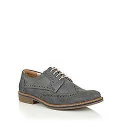 Lotus Since 1759 - Navy nubuck 'Salisbury' casual brogues