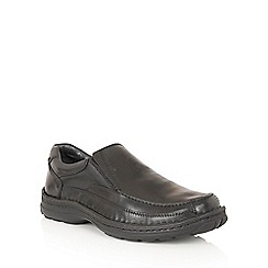 Lotus Since 1759 - Black leather 'Mackinnon' loafers