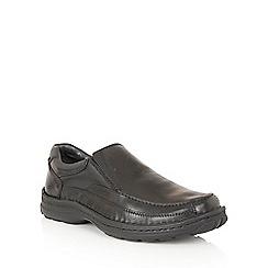 Lotus Since 1759 - Black leather 'Mackinnon' loafers