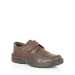 Lotus Since 1759 - Brown leather 'Canley' rip tape shoes