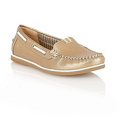 Naturalizer - Gold 'Hanover' boat shoes