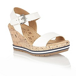 Naturalizer - White 'Norton' open toe sandals