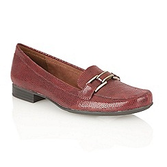 Naturalizer - Red print 'Rainee' loafer shoes