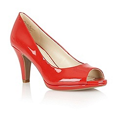 Naturalizer - Red shiny 'irina' peep toe court shoes