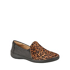 Naturalizer - Leather animal print 'Karah' slip on flats